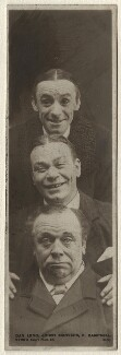Dan Leno; Johnny Danvers; Herbert Campbell, by William Davey, published by  Rotary Photographic Co Ltd - NPG Ax160244