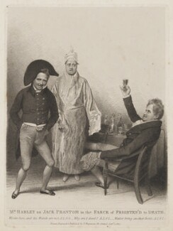 John Pritt Harley as Jack Phantom in the Farce of Frighten'd to Death, by, published by and after Thomas Charles Wageman - NPG D38606
