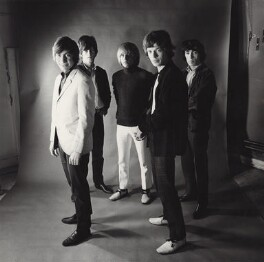 The Rolling Stones (Keith Richards, Brian Jones, Mick Jagger, Bill Wyman, Charlie Watts), by Gered Mankowitz - NPG x134872