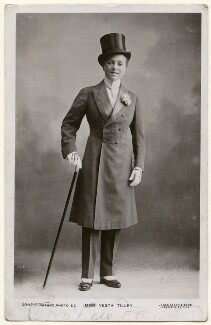 Vesta Tilley, by James Bacon, published by  Rotary Photographic Co Ltd - NPG Ax160259