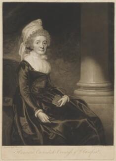 Henrietta Grey (née Cavendish Bentinck), Countess of Stamford, by George Keating, after  George Romney - NPG D41851