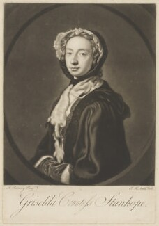 Grizel Stanhope (née Hamilton), Countess Stanhope, by James Macardell, after  Allan Ramsay - NPG D41856