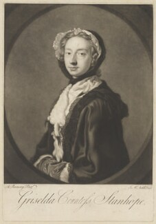 Grizel Stanhope (née Hamilton), Countess Stanhope, by James Macardell, after  Allan Ramsay - NPG D41857