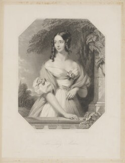 Emily Harriet Stanhope (née Kerrison), Countess Stanhope, by William Holl Jr, and by  Francis Holl, printed by  McQueen (Macqueen), after  John Lucas - NPG D41858
