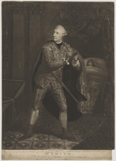 William ('Gentleman') Smith in the Character of Iachimo in Cymbaline, by William Lawranson, published by  William Richardson - NPG D41775