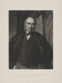 William Henry Smith, by John Douglas Miller, published by  Paul and Dominic Colnaghi & Co, after  George Richmond - NPG D41780