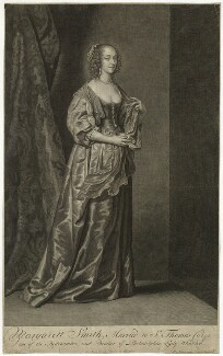 Margaret (née Smith), Lady Herbert, by and published by Pieter Stevens van Gunst, after  Sir Anthony van Dyck - NPG D41788