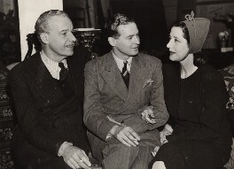 Alfred Lunt; Terence Rattigan; Lynn Fontanne, by Unknown photographer, for  Sport & General Press Agency Ltd - NPG x134903
