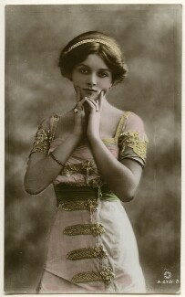 Dame Gladys Cooper, probably by Bassano Ltd, published by  Rotary Photographic Co Ltd - NPG Ax160300