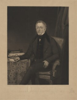 Sir George Henry Smyth, 6th Bt, by David Lucas, published by  Thomas Knibb, after  Archibald Archer - NPG D41794
