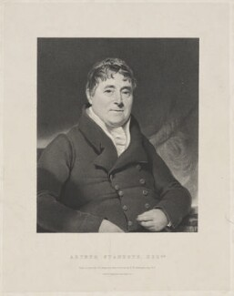 Arthur Stanhope, by John Samuelson Templeton, printed by  Engelmann, Graf, Coindet & Co, after  Henry William Pickersgill - NPG D41864
