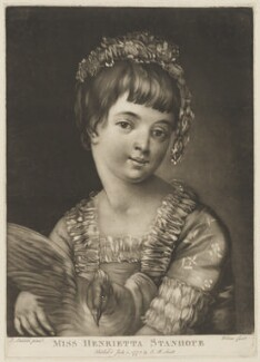 Henrietta Stanhope, by James Wilson, published by  John Raphael Smith, after  John Sanders - NPG D41867