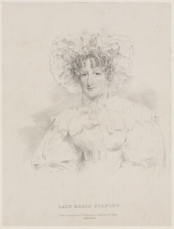 Maria Josepha Stanley (née Holroyd), Lady Stanley of Alderley, by Isaac Wane Slater, printed by  Charles Joseph Hullmandel, after  Joseph Slater - NPG D41870