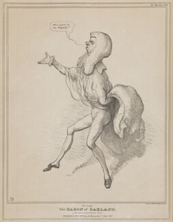 Henry Brougham, 1st Baron Brougham and Vaux ('This is not The Baron of Oakland in the opera of the Haunted Tower'), by John ('HB') Doyle, printed by  Charles Etienne Pierre Motte, published by  Thomas McLean - NPG D41073