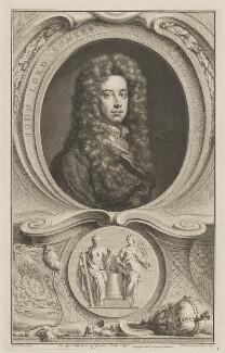 John Somers, Baron Somers, by Jacobus Houbraken, published by  John & Paul Knapton, after  Sir Godfrey Kneller, Bt - NPG D41806