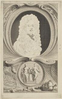 John Somers, Baron Somers, by Jacobus Houbraken, published by  John & Paul Knapton, after  Sir Godfrey Kneller, Bt - NPG D41807