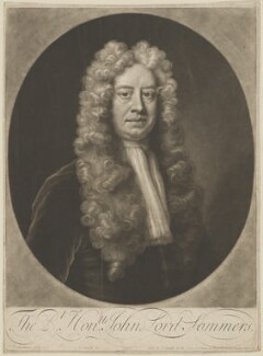 John Somers, Baron Somers, by and sold by John Smith, after  Jonathan Richardson - NPG D41808