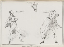 A Game of Political Shuttlecock, by John ('HB') Doyle, published by  Thomas McLean - NPG D41090