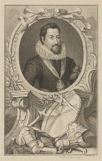 Robert Carr, Earl of Somerset, by Jacobus Houbraken, published by  John & Paul Knapton - NPG D41812