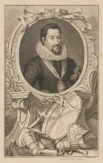 Robert Carr, Earl of Somerset, by Jacobus Houbraken, published by  John & Paul Knapton, published 1749 - NPG D41812 - © National Portrait Gallery, London