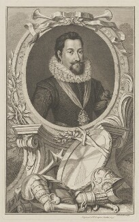 Robert Carr, Earl of Somerset, by Jacobus Houbraken, published by  John & Paul Knapton - NPG D41813