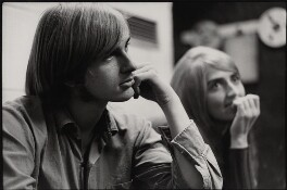 Michael ('Mike') Oldfield; Sally Oldfield, by Brian Shuel, 1973 - NPG  - © Brian Shuel / National Portrait Gallery, London
