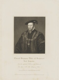 Edward Seymour, 1st Duke of Somerset, by Henry Meyer, published by  Lackington, Hughes, Harding, Mavor & Jones, published by  Longman, Hurst, Rees, Orme & Brown, after  William Hilton - NPG D41814