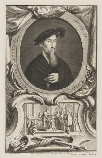 Edward Seymour, 1st Duke of Somerset, by Jacobus Houbraken, published by  John & Paul Knapton, after  Hans Holbein the Younger, published 1738 - NPG D41815 - © National Portrait Gallery, London