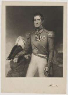 Lord Robert Edward Somerset, by George Thomas Payne, published by  Edward Puckle, after  Johann Grund - NPG D41824