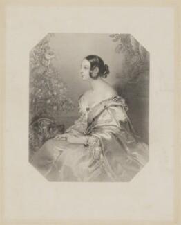 Jane Georgiana Seymour (née Sheridan), Duchess of Somerset when Lady Seymour, by William Henry Mote, after  John Hayter - NPG D41828