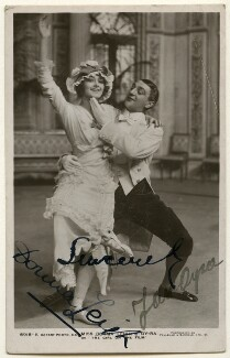 Dorma Leigh (née Dorothy Mabel Woodley) and Jan Oyra in 'The Girl on the Film', by Foulsham & Banfield, published by  Rotary Photographic Co Ltd - NPG Ax160365
