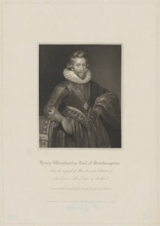 Henry Wriothesley, 3rd Earl of Southampton, by Robert William Sievier, published by  Lackington, Hughes, Harding, Mavor & Jones, published by  Longman, Hurst, Rees, Orme & Brown, after  Robert William Satchwell, published 1 June 1817 - NPG D41833 - © National Portrait Gallery, London