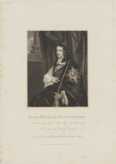 Thomas Wriothesley, 4th Earl of Southampton, by John Henry Robinson, published by  Harding & Lepard, after  Sir Peter Lely, published 1 March 1830 (circa 1661) - NPG D41834 - © National Portrait Gallery, London