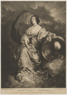 Rachel Wriothesley (née de Massüe), Countess of Southampton, by James Macardell, after  Sir Anthony van Dyck - NPG D41984
