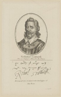 Sir Robert Southwell, published by John Thane, after  Hendrik Cornelisz. Vroom - NPG D41987