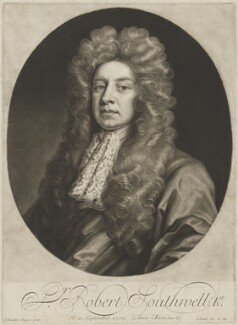 Sir Robert Southwell, by and published by John Smith, after  Sir Godfrey Kneller, Bt - NPG D41988