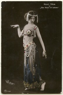Maud Allan as Salome in 'The Vision of Salome', by Reutlinger, published by  Aristophot Co Ltd - NPG Ax160371