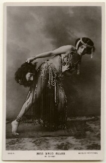 Maud Allan as Salome in 'The Vision of Salome', published by J. Beagles & Co - NPG Ax160375
