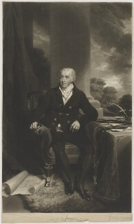 John Sparrow, by Samuel William Reynolds, after  William Owen - NPG D41992