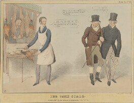 The Game Stall, by John ('HB') Doyle, printed by  Charles Etienne Pierre Motte, published by  Thomas McLean, published 18 November 1831 - NPG D41102 - © National Portrait Gallery, London