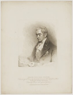 George John Spencer, 2nd Earl Spencer, by Henry Meyer, published by  T. Cadell & W. Davies, after  John Wright, after  John Hoppner - NPG D42000