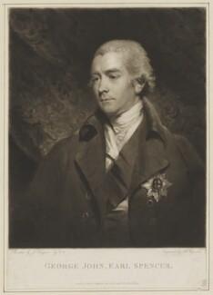 George John Spencer, 2nd Earl Spencer, by Samuel William Reynolds, published by  Robert Cribb, after  John Hoppner - NPG D42001