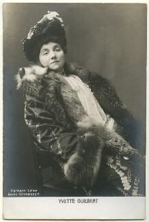 Yvette Guilbert, published by Hermann Leiser - NPG Ax160411