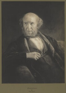 Herbert Spencer, by Frederick Hollyer, after  Alice Grant - NPG D42025