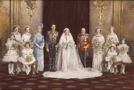 The wedding of Prince Henry, Duke of Gloucester and Princess Alice, Duchess of Gloucester, by and after Vandyk, 6 November 1935 - NPG  - © National Portrait Gallery, London
