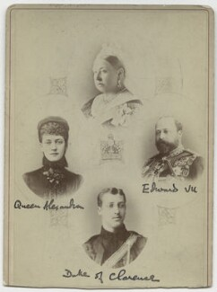 Queen Victoria; Queen Alexandra; King Edward VII; Prince Albert Victor, Duke of Clarence and Avondale, by and after W. & D. Downey - NPG x134931