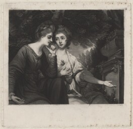 Harriet Bouverie (née Fawkener, later Lady Robert Spencer); Frances Anne Crewe (née Greville), Lady Crewe, by Samuel William Reynolds, after  Sir Joshua Reynolds - NPG D42052