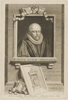John Stow, by George Vertue - NPG D42059