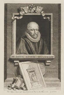 John Stow, by George Vertue - NPG D42060