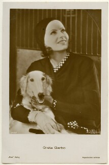 Greta Garbo with Saluki Dog, published by Ross-Verlag - NPG Ax160457